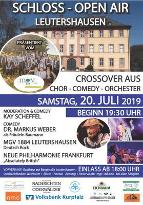 Bild: SCHLOSS OPEN AIR LEUTERSHAUSEN - Cross.Over aus Chor-Comedy-Orchester