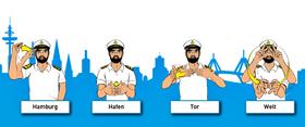 Bild: Gebärdensprache - Dialog im Hafen - 1-stündige Tour durch den Hamburger Hafen