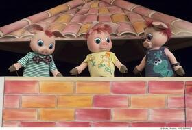 Bild: Die drei Schweinchen