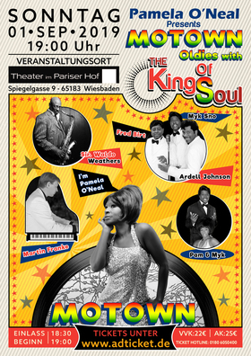 Bild: Motown Soul Oldies - Pamela O´Neal and the KINGS OF SOUL