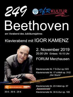 Bild: 249 – Beethoven am Vorabend des Jubiläumsjahres - Klavierabend mit Igor Kamenz