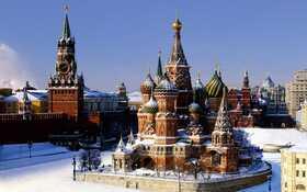 Bild: Kreml im Schnee