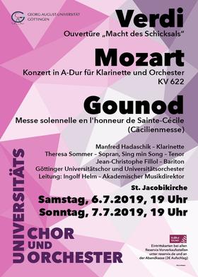 Bild: Semesterkonzert Sommer 2019 - Göttinger Universitätschor und -orchester, Leitung: Ingolf Helm