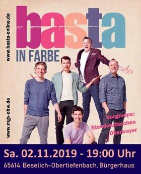 Bild: Basta - IN FARBE - Pop goes A-Cappella mit Basta und den Steinkautlerchen
