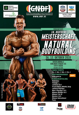 Bild: 16. GNBF e.V. Deutsche Meisterschaft 2019 - Natural Bodybuilding