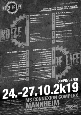 Bild: Noize Of Life 2k19 - Kombiticket - Do. 24.10.2019 bis So. 27.10.2019