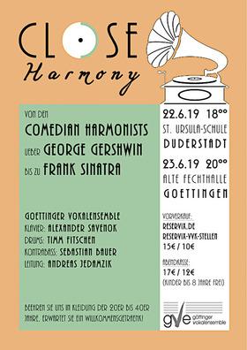 Bild: Close Harmony - Chorkonzert in Göttingen