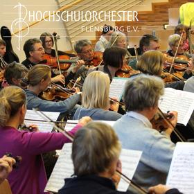Bild: Hochschulorchester Flensburg: Semesterkonzert - Offenbach, Lalo, Saint-Saëns, Bizet - Solist: A. Zorayan, Leitung: T. Saye