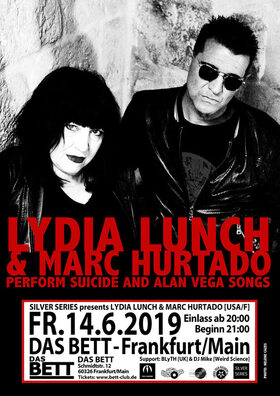 LYDIA LUNCH & MARC HURTADO PERFORM SUICIDE AND ALAN VEGA SONGS