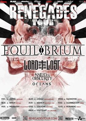 Bild: Equilibrium, Lord Of The Lost, Nailed To Obscurity, Oceans - Renegades Tour 2020