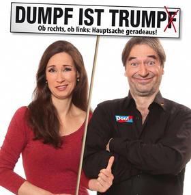 Bild: Die Buschtrommel: Dumpf ist Trump(f) - Ob rechts, ob links: Hauptsache geradeaus!