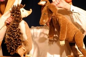 Bild: Der Wettlauf von Hase und Igel - Papperlapapp Puppenspiel