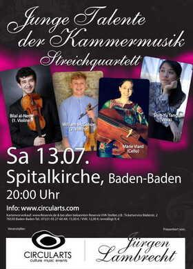 """Bild: """"Junge Talente der Kammermusik"""" - Streichquartett Marie"""
