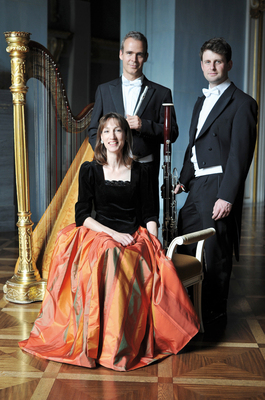 Bild: Solisten des Bayerischen Staatsorchesters - mit der Konzertharfenistin Veronika Ponzer