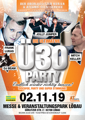 Bild: Die Ultimative Ü30 Party mit Jolly Jumper, Mitch Keller & Frank Lukas - präsentiert vom ATeams-Eventservice