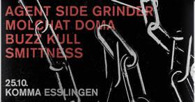 Bild: Agent Side Grinder + Molchat Doma + Buzz Kull + Smittness - empfohlen von Komma & Sweet & Tender Hooligans Club.