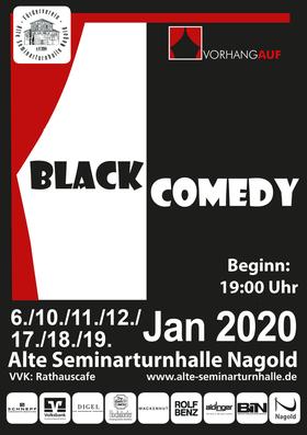 Bild: Vorhang Auf! - Black Comedy - von Peter Shaffer Regie: Silvester Keller