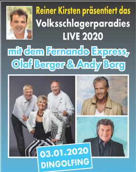 Bild: Reiner Kirsten´s Volksschlagerparadies: Andy Borg, Olaf Berger & Fernando Express & Lena Laval
