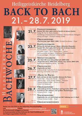 """Back to Bach"" - Heidelberger Bachwoche 2019 - Bach und Jazz mit dem Ensemble ""Between the Times"""