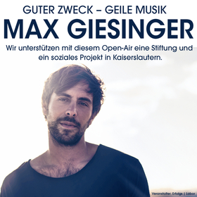 Bild: Guter Zweck – Geile Musik  Max Giesinger