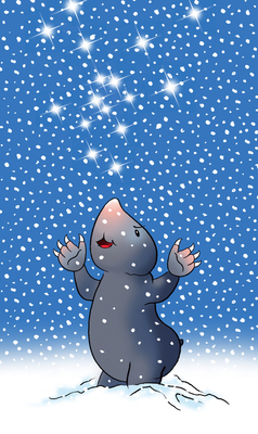 Bild: Was glitzert da im Schnee?
