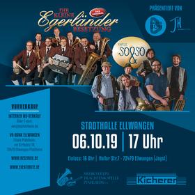 Bild: Die kleine Egerländer Besetzung - Das Original trifft auf Kapelle So&So - Zwei Top-Ensembles im Doppelpack