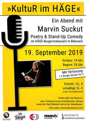 Bild: Ein Abend mit Marvin Suckut - KultuR im HÄGE, Poetry & Stand-Up Comedy