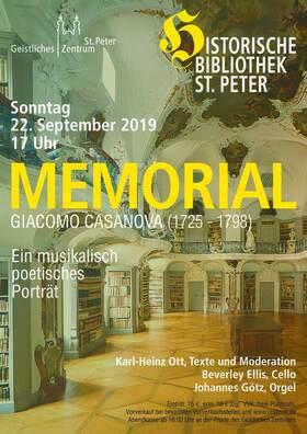 Bild: MEMORIAL für Giacomo Casanova
