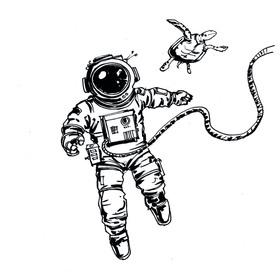Bild: Satelliten am Nachthimmel - Live-Zeichnung und Szenische Lesung