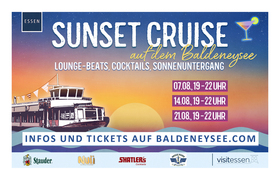 Bild: Sunset Cruise am Baldeneysee - Dreistündige Rundfahrt mit Live-Musik und inkl. einem Shatler´s-Cocktail