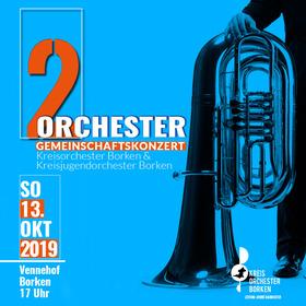 Bild: 2 Orchester - Gemeinschaftskonzert - Kreisorchester Borken & Kreisjugendorchester Borken