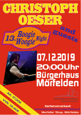 Bild: CHRISTOPH OESER & Friends - 13. Boogie-Woogie-Night