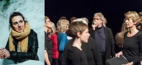 Bild: Lyrik ist Happening - Lyrik und Klangkunst mit Maud Vanhauwert und dem Südufer-Chor