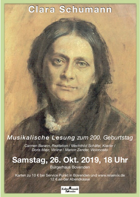 Bild: Clara Schumann zum 200. Geburtstag