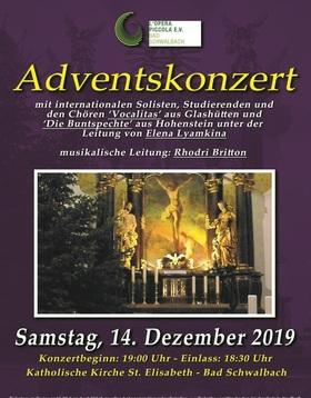 Bild: Adventskonzert - mit internationalen Solisten, Studierenden und den Chören ´Vocalitas´ Glashütten und ´Die Buntspechte´ Hohenstein