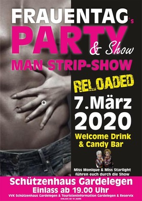 Frauentag Party & Show MAN STRIP SHOW