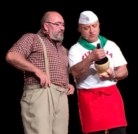 Bild: Ciro Visone trifft Harry Borgner - Pizza trifft Spundekäs