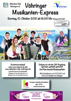 Bild: Vöhringer Musikantenexpress - mit Saso Avsenik
