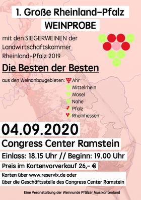 1. Große Rheinland-Pfalz Weinprobe - Motto: Die Besten der Besten