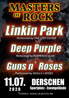 MASTERS OF ROCK - Tribute to GUNS `n ROSES, LINKING PARK & DEEP PURPLE