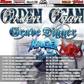 Bild: ORDEN OGAN / GRAVE DIGGER - Final Days Tour