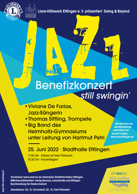 Bild: Jazz Benefizkonzert - Lions-Hilfswerk-Ettlingen e.V. präsentiert Swing & Beyond