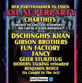 CHART SHOW, die XXL SUPERPARTY in Essen - die sagenhafte Ü40 Party