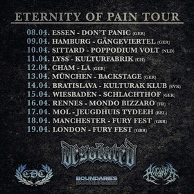 DESOLATED / CDC / ACRANIUS / BOUNDARIES - Eternity Of Pain Tour