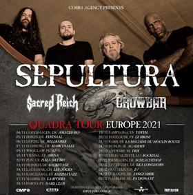 SEPULTURA - QUADRA TOUR - EUROPE 2021