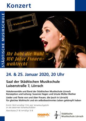 Bild: Ihr habt die Wahl - 100 Jahre Frauenwahlrecht - Konzert Vokalensemble Städtische Musikschule Lörrach