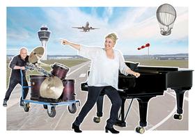 """Bild: """"Mixed Classics"""", Annette Hölzl Duo - Pianistin und Schlagzeuger"""