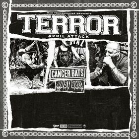 Bild: TERROR / CANCER BATS / DUST BOLT / DELUMINATOR - April Attack
