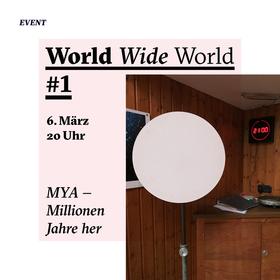Bild: MYA – Millionen Jahre her. WORLD WIDE WORLD #1