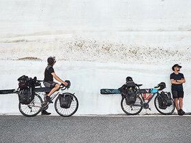 Bild: Eis und Palmen - Mit Ski und Rad über die Alpen